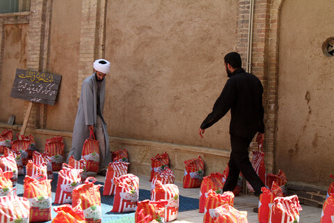 تصاویر /  رزمایش مواسات قرارگاه گروههای جهادی طلاب حوزه علمیه همدان