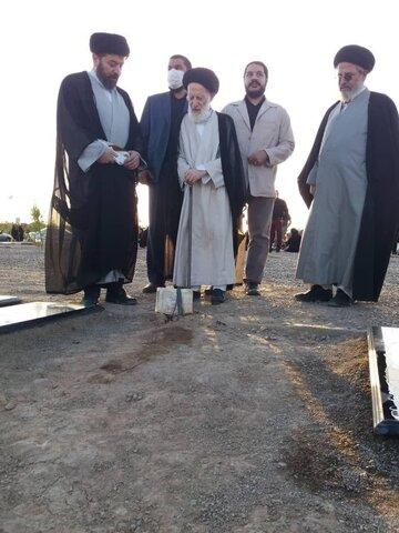 حضور آیت الله العظمی شبیری زنجانی در قبرستان بهشت معصومه