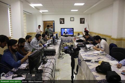 """بالصور/ انطلاق فعاليات مؤتمر """"القدس الشريف"""" الدولي في العالم الافتراضي بقم المقدسة"""