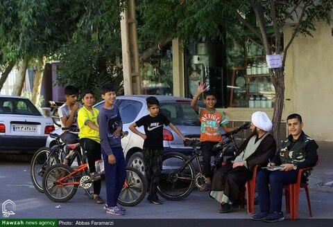 بالصور/ نشاطات طلاب العلوم الدينية التطوعية في مختلف أحياء مدينة قم المقدسة