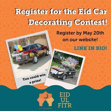 رژه اتومبیلهای تزئینشده در اورلاندو به مناسبت عید فطر