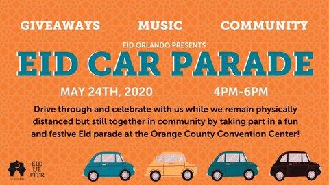 به مناسبت عید فطر: رژه اتومبیل ها در اورلاندو