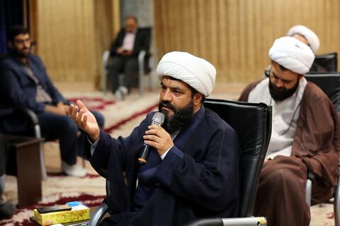 نشست و تجلیل از فعالان جهادی خدمات اجتماعی حوزه با آیت الله اعرافی