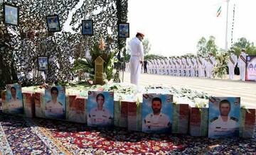 پیکر شهدای ناوچه کنارک در بوشهر تشییع شد