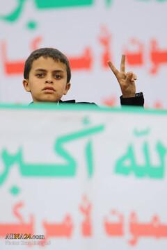 ملت یمن با وجود سختیها قدس را فراموش نمیکند