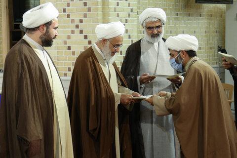 تصاویر/ مراسم تجلیل از طلاب جهادی قزوین