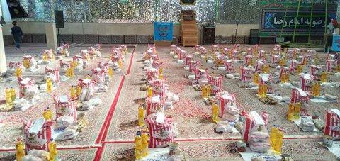 رزمایش کمک مؤمنانه مرکز نیکوکاری امام رضا(ع) وابسته به مدرسه علمیه حضرت زهرا (س) میبد