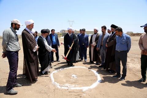 مراسم کلنگزنی پروژه مجتمع آموزشی ورزشی شهید سلیمانی با حضور مدیر حوزههای علمیه و رئیس دفتر رهبر انقلاب