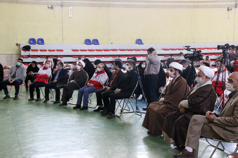 تصاویر/ رزمایش همدلی و کمک های مؤمنانه هلال احمر و سپاه خراسان شمالی