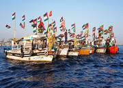 راهپیمایی دریایی روز قدس در پاکستان +تصاویر
