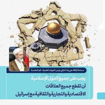 بالصور/ يجب على الدول الإسلامية أن تقطع جميع العلاقات مع إسرائيل... نؤكد على مكافحة الإرهاب والاحتلال الدولي