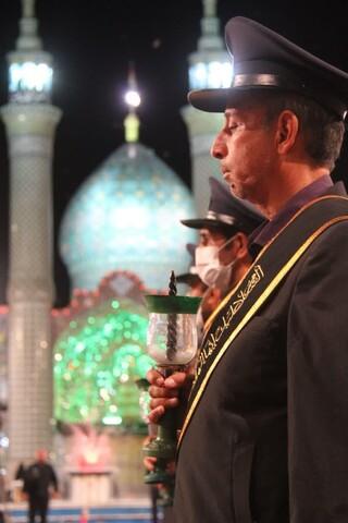 تصاویر/ آیین خطبه خوانی و شمع گردانی خدام افتخاری حرم هلال بن علی (ع) آران وبیدگل
