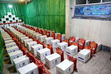بستهبندی اقلام خوراکی و بهداشتی ویژه شب عید توسط قرارگاه کریمه قم