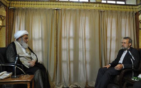 آیتالله العظمی مظاهری و علی لاریجانی