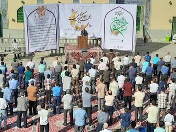 نماز عید فطر در سراسر استان یزد برگزار شد+ عکس
