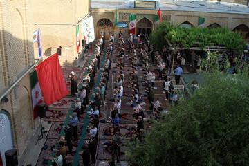تصاویر/ اقامه نماز عید فطر در مسجد جامع همدان