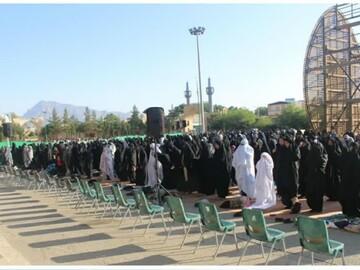 اقامه نماز عید فطر در شهرستان مهریز