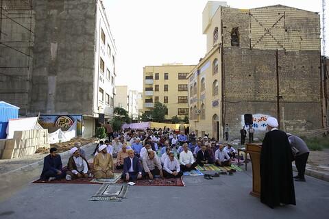 نماز عید فطر در مسجد الزهرا(ع) قم