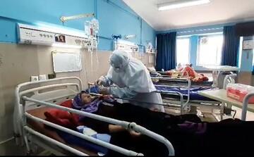 فعالیت طلبه جهادی مدرسه علمیه کوثر علی آباد کتول در بیمارستان بندر ترکمن