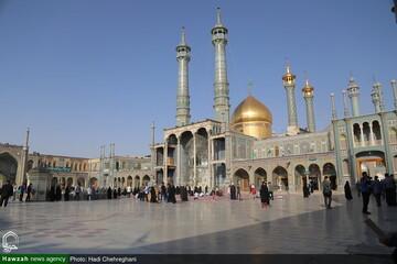 بالصور/ إعادة فتح حرم السيدة فاطمة المعصومة عليها السلام بمدينة قم المقدسة