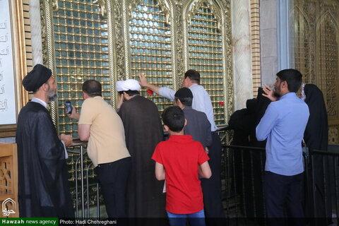 بالصور/ إعادة فتح حرم السيدة فاطمة المعصومة عليها السلام بمدينة قم المقدسة مع أيام عيد الفطر