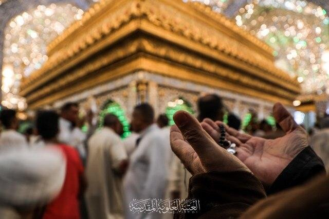 تصاویر/ حال و هوای حرم حضرت امیرالمؤمنین(ع) در عید فطر