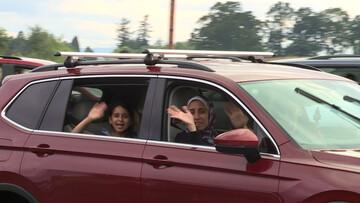 رژه اتومبیل های مسلمانان آمریکا به مناسبت عید فطر