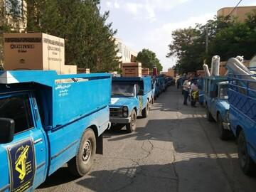تأمین ۱۱۰جهیزیه کامل در کمک های مؤمنانه یزدی ها+ عکس