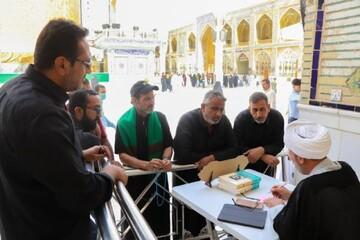 ایستگاههای پاسخگویی به سؤالات شرعی زائران در حرم مطهر علوی+ تصاویر