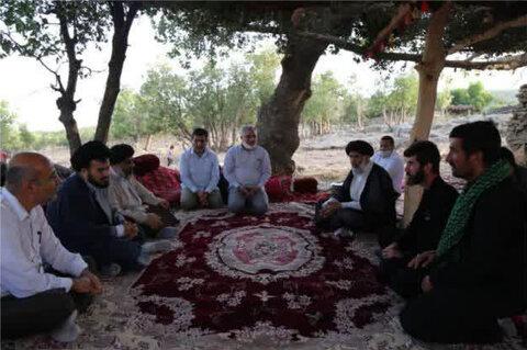 بازدید میدانی نماینده ولی فقیه در خوزستان از روستای احمد فداله دزفول