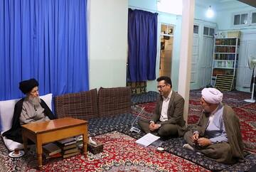 دیدار مدیرکل کمیته امداد امام خمینی(ره) قم با آیت الله علوی گرگانی