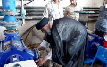 بازدید نماینده ولیفقیه در خوزستان از پروژههای آبرسانی مناطق محروم خوزستان+عکس