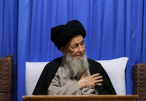 دیدار رییس کمیته امداد قم با آیت الله علوی گرگانی