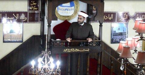 شیخ احمد قطان رئیس جمعیت قولنا و العمل لبنان