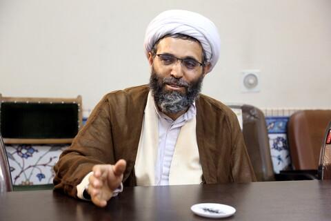 بازدید حجت الا سلام والمسلمین حاجبی-مسئول بعثه مقام معظم رهبری در هرمزگان از خبرگزاری حوزه