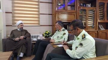 تبریک مدیر حوزه علمیه یزد به فرمانده جدید انتظامی استان