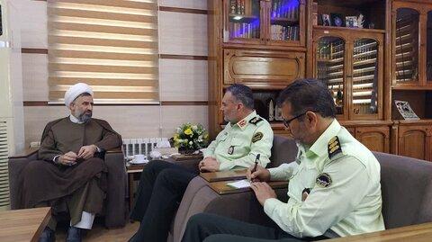 دیدار مدیر یزد با فرمانده انتظامی یزد