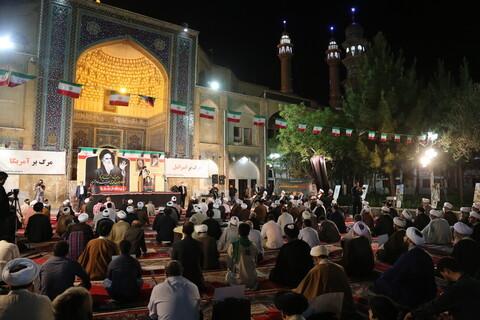 مراسم بزرگداشت امام خمینی (ره) و قیام ۱۵ خرداد در مدرسه علمیه فیضیه