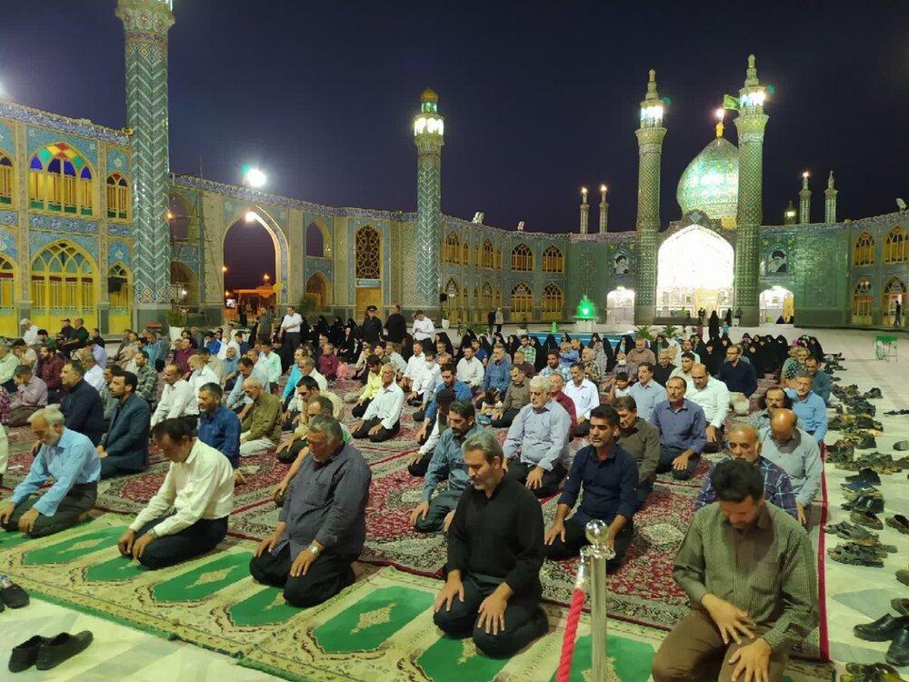 مراسم سالگرد ارتحال امام(ره) در صحن حرم هلال بن علی (ع) برگزار شد
