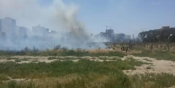 آتش سوزی در جامعةالزهرا+ تصاویر
