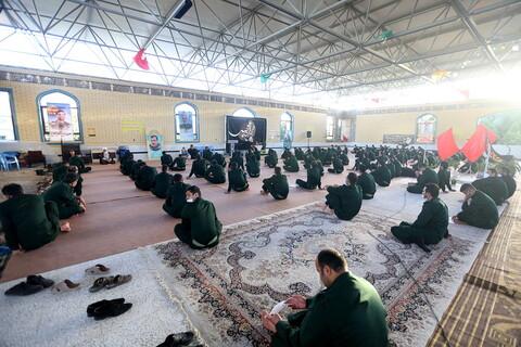 حضور آیت الله اعرافی در مرکز آموزش افسری و تربیت پاسداری علویون