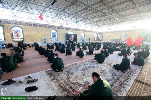 بالصور/ حضور آية الله الأعرافي في مركز تدريب الحرس الثوري بقم المقدسة
