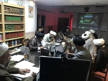 گزارش ویدئو کنفرانسی مدیران حوزه علمیه یزد به مسئولان عالی حوزه به روایت تصویر