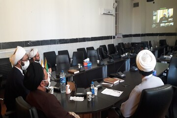 شرکت مدیران حوزه کرمانشاه در اجلاسیه مدیران استانی حوزههای علمیه به صورت ویدئوکنفرانس