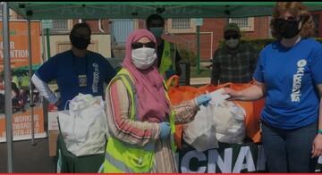 خیریه اسلامی در جورجیا، مواد غذایی تازه در اختیار نیازمندان قرار داد