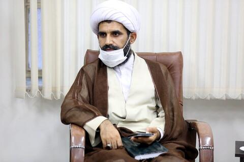 تصاویر/دیدار حجت الاسلام المسلمین حقیقی مدیر حوزه علمیه هرمزگان با آیت الله اعرافی