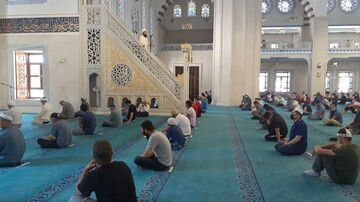 Friday prayer performed at Kyrgyzstan's central mosque after over 2-month break