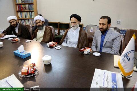 بالصور/ مدير حوزة محافظة هرمزكان العلمية جنوبي إيران يتفقد مركز إعلام الحوزة بقم المقدسة
