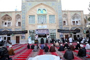 تصویری رپورٹ| مدرسہ فیضیہ قم میں حضرت امام جعفر صادق (رہ) کی شہادت کی مناسبت سے عزاداری