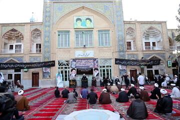 تصاویر/ مراسم سوگواری شهادت امام جعفر صادق(ع) در مدرسه علمیه فیضیه